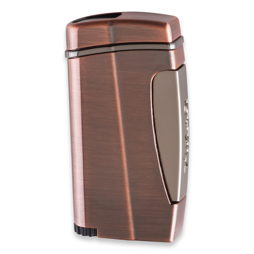 Xikar Executive II Torch Flame Single Jet Cigar Lighter - Vintage Bronze - Exterior Front