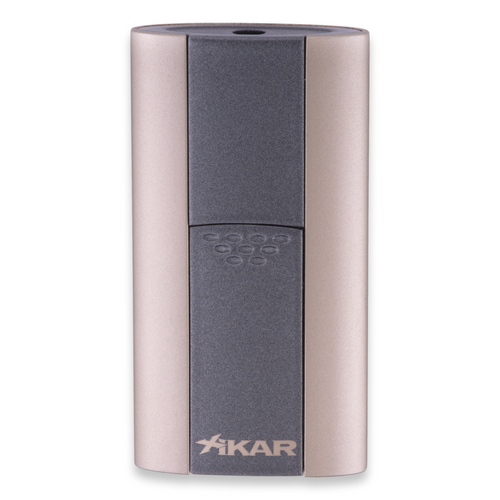 Xikar Flash Torch Flame Single Jet Cigar Lighter - Sandstone Tan - Exterior Front