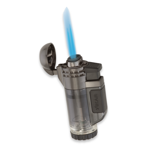 Xikar Tech Double Torch Flame Double Jet Cigar Lighter - Black - Flame