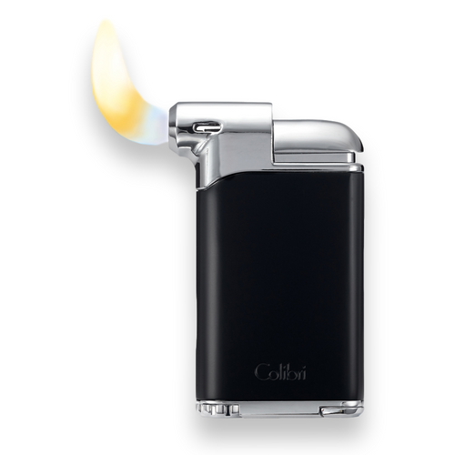 Colibri Pacific Air Soft Flame Cigar Lighter - Black and Chrome - Flame