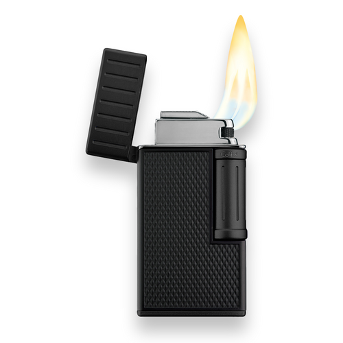 Colibri Julius Soft Flame Cigar Lighter - Black and Black - Flame