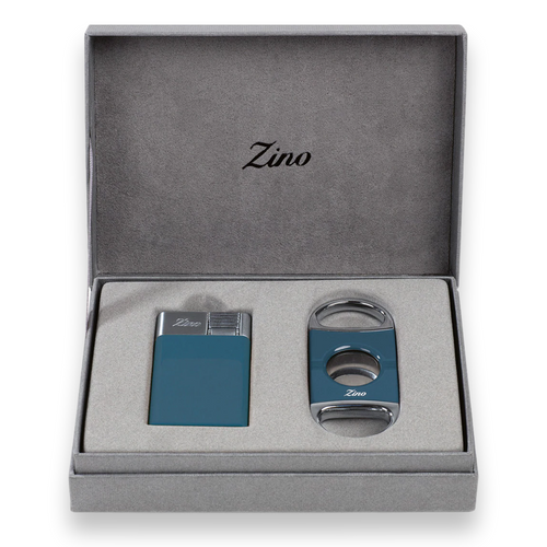 Zino Davidoff Z-Collection Set - ZM Lighter and Z2 Cutter - Blue - Exterior Front