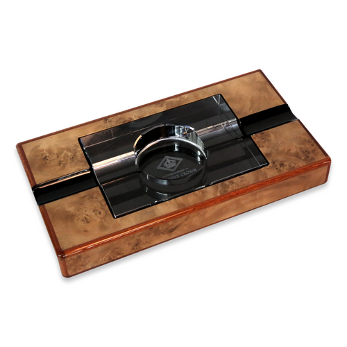 Diamond Crown Wesley Wood 2-Cigar Ashtray  - Exterior Front