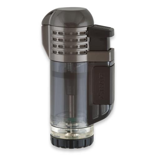 Xikar Tech Quad Torch Flame Quad Jet Cigar Lighter - Black - Exterior Front
