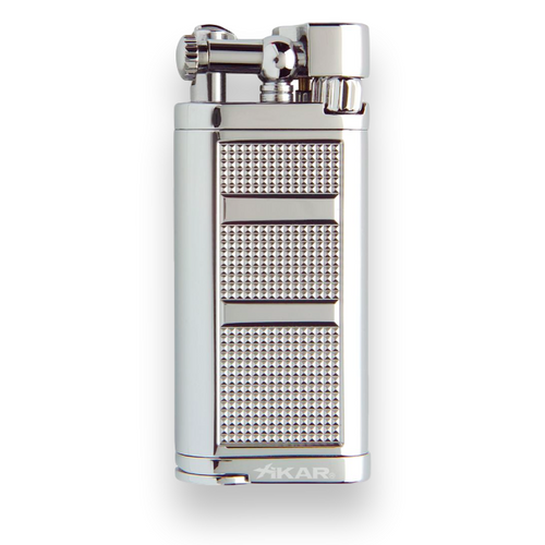 Xikar Pipeline Soft Flame Cigar Lighter - Chrome Silver - Exterior Front