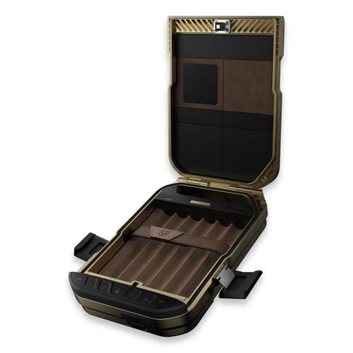 Vaultek Lifepod 6-Cigar Travel Humidor - Rustic Bronze - Interior