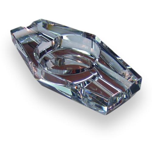 Prestige Crystal 2-Cigar Ashtray  - Exterior Front