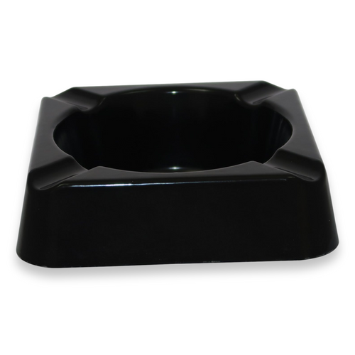 Stinky Cigar Composite 4-Cigar Ashtray - Black - Exterior Front