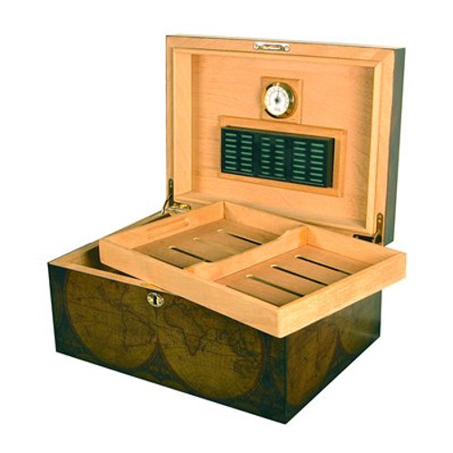 Old World Desktop Humidor - 100 Cigars