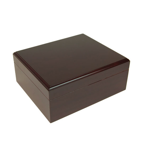 Capri Mahogany Desktop Humidor - 20-50 Cigars