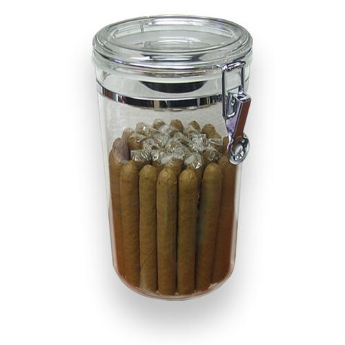 Prestige Acrylic Jar 25-Cigar Acrylic Humidor  - Exterior Closeup