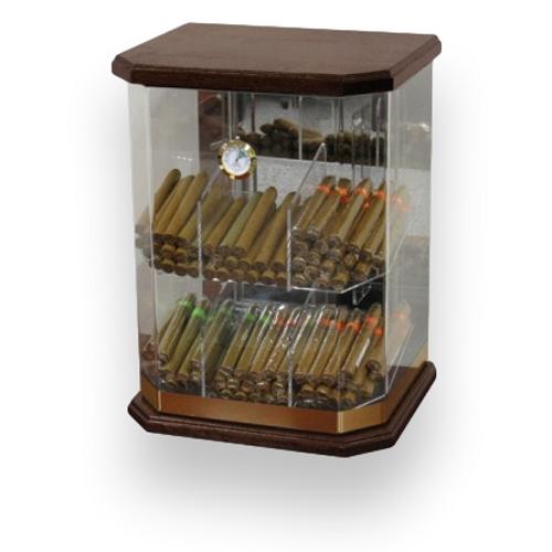 Prestige Franklin Wood 150-Zigarren Acryl Humidor - Außenfront
