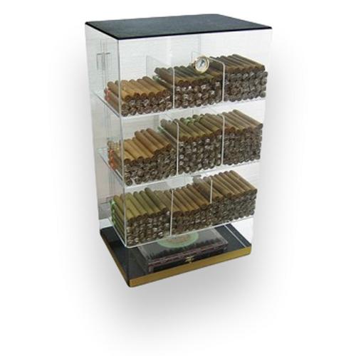 Prestige Roosevelt 250-Cigar Acrylic Humidor  - Exterior Front