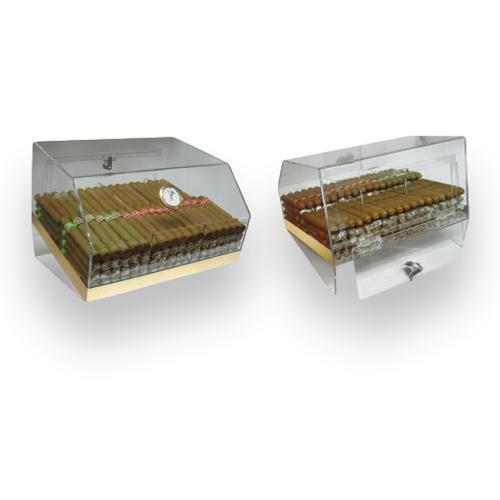 Prestige Laurence 75-Cigar Acrylic Humidor  - Exterior Interior