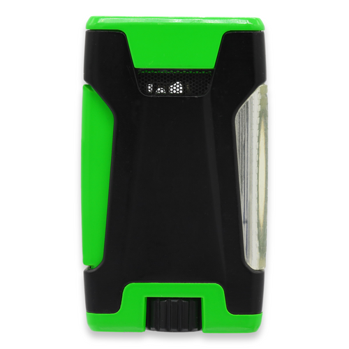 Colibri Rebel Torch Flame Double Jet Cigar Lighter - Black and Green - Exterior Back