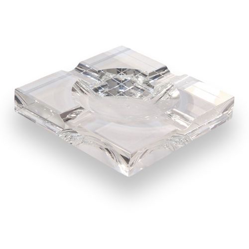 Quality Importers Square Crystal 4-Cigar Ashtray  - Exterior Front