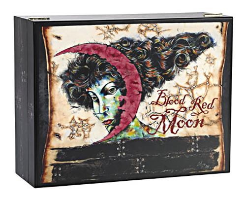 Blood Red Moon Desktop Humidor - 50 Cigars