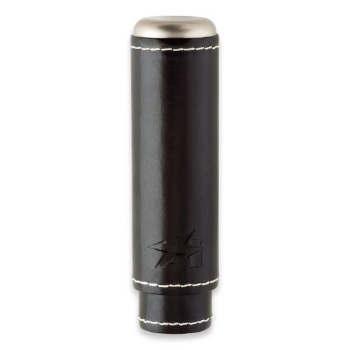 Xikar Envoy 1-Finger Cigar Case - Black - Exterior Front