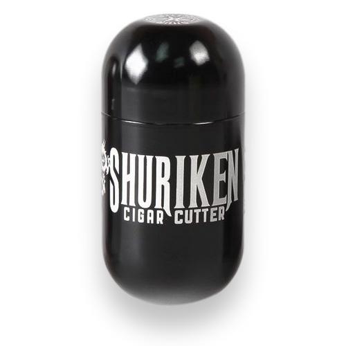 Shuriken Metal Cigar Cutter - Black - Exterior Front
