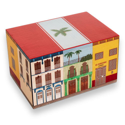 """Elie Bleu Casa Cubana """"Le Parisien"""" 2020 Edition 75-Cigar Desktop Humidor  - Exterior Front"""