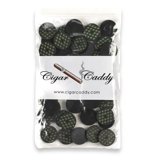 Cigar Caddy Mini Round Foam Scheibenbefeuchter - Pack - Außenfront