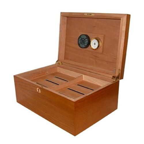 Milano Oak Desktop Humidor - 75-100 Cigars