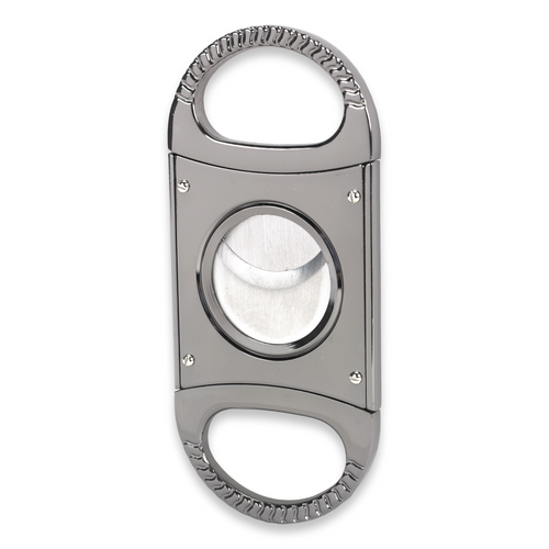 Quality Importers 60 Ring Gauge Guillotine Double-Blade Cigar Cutter  - Exterior Front