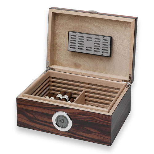 Visol Brawley Macassar  75-Cigar Desktop Humidor  - Interior