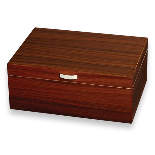 Visol Golden Ebony 75-Cigar Desktop Humidor  - Exterior Front