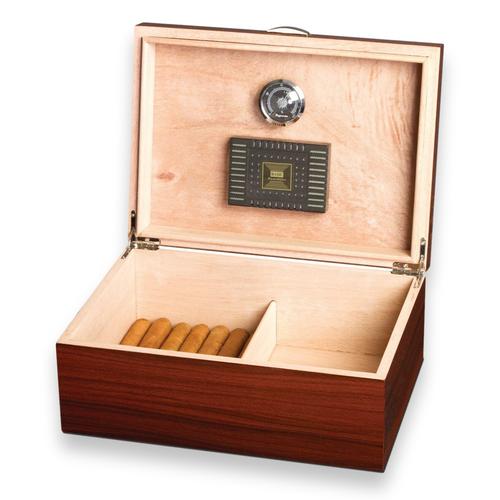 Visol Golden Ebony 75-Cigar Desktop Humidor