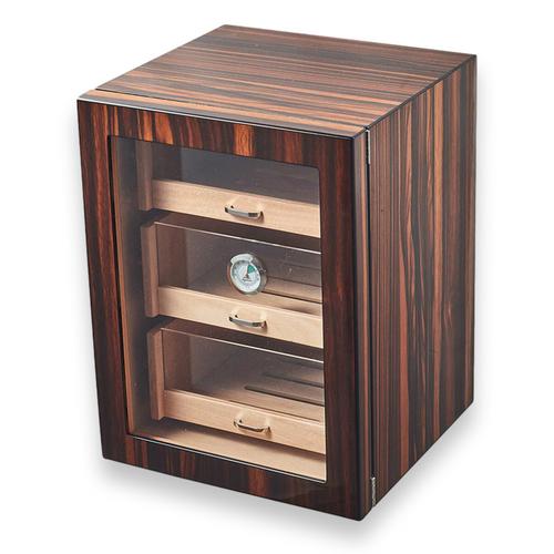 Visol Gorman Macassar Ebony 150-Cigar Cabinet Humidor  - Exterior Front