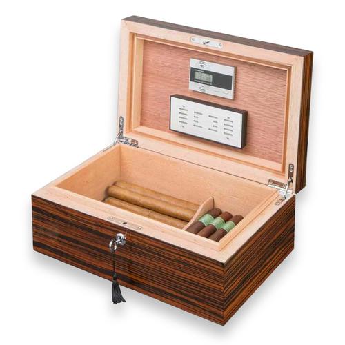 Visol Richardson Ebony Exotic 100-Cigar Desktop Humidor  - Interior