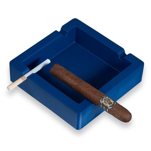 Visol Elara Silicon 4-Cigar Ashtray - Navy Blue - Exterior Front