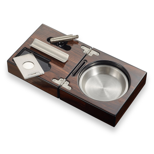 Visol Tamal Wood 1-Cigar Ashtray  - Interior Front