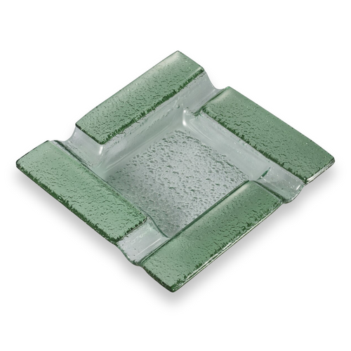 Visol Tanner Square Glass 4-Cigar Ashtray  - Exterior Front