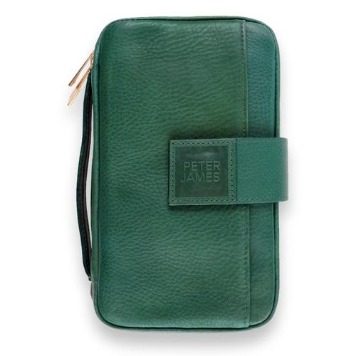 Peter James Generation IV Handmade Leather 6-Finger Cigar Case - Masters - Exterior Front