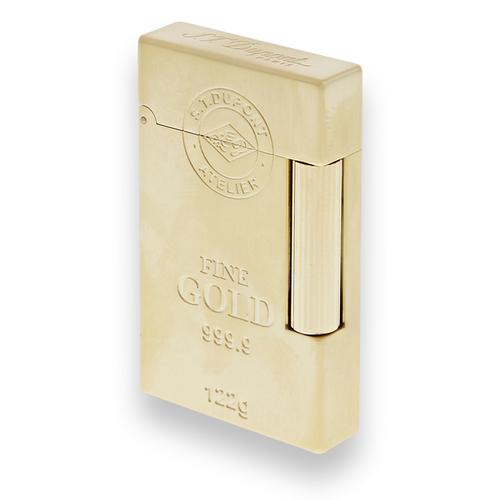 S.T. Dupont Ligne 2 Soft Flame Cigar Lighter - Ingot Series - Gold - Exterior Open
