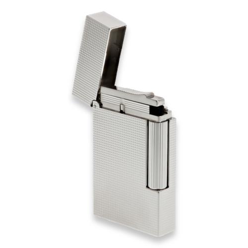 S.T. Dupont Line 2 Micro Diamond Head Soft Flame Cigar Lighter - Perfect Ping Series - Palladium - Exterior Open