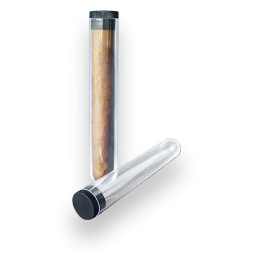 Prestige Acrylic 1-Finger Cigar Case  - Exterior Front
