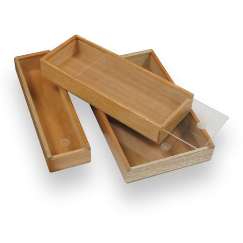 Prestige Promotional Box Wood 3-Finger Cigar Case  - Exterior Top