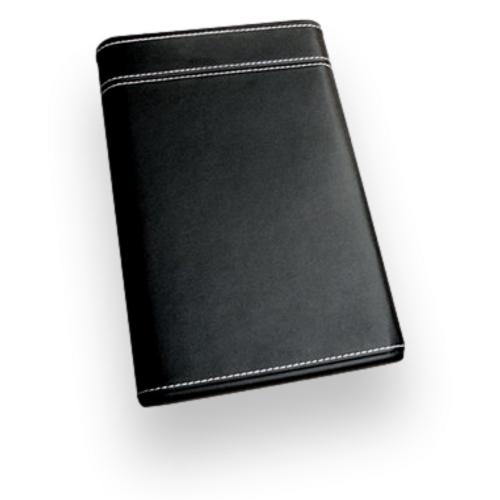 Prestige Black Sliding Leather 6-Finger Cigar Case  - Exterior Front