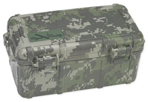 Cigar Caddy 3540 Forest Camo Travel Humidor - 15 Cigars
