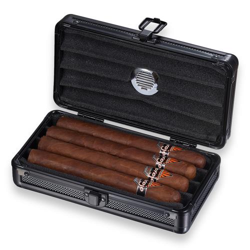 Visol Setke Plastic 4-Finger Cigar Case  - Interior Front