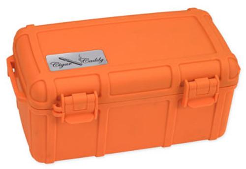 Cigar Caddy 3540-R Blaze Orange Travel Humidor - 15 Cigars