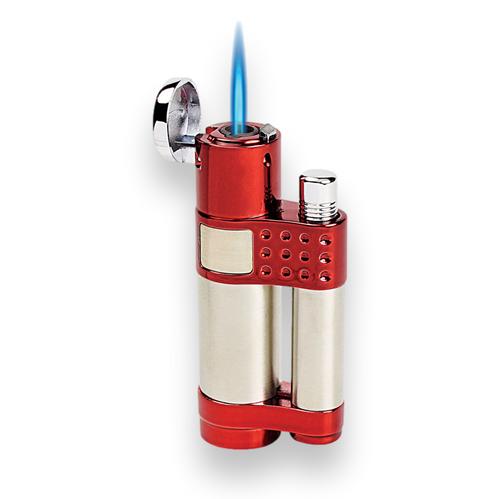 Vector Stratos Torch Flame Single Jet Cigar Lighter - Sparkle Burgundy - Exterior Front