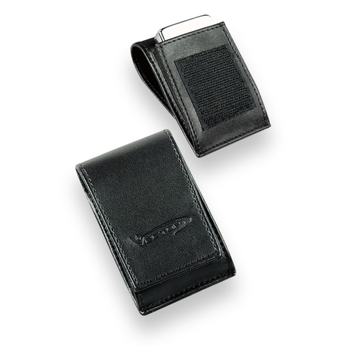 Vector Black Leather Lighter Pouch No.1  - Exterior Front