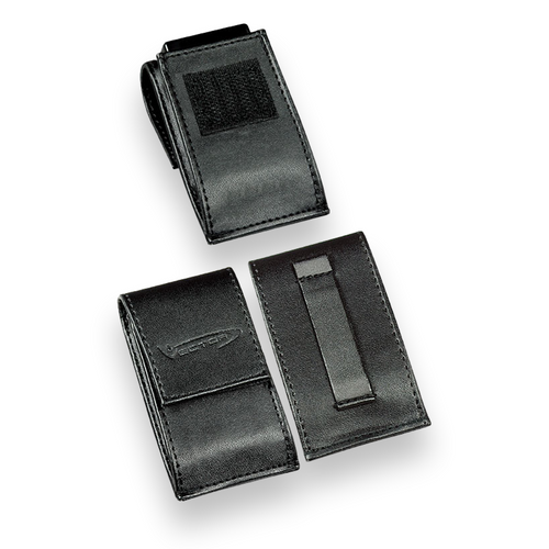 Vector Black Leather Lighter Pouch No.3  - Exterior Front