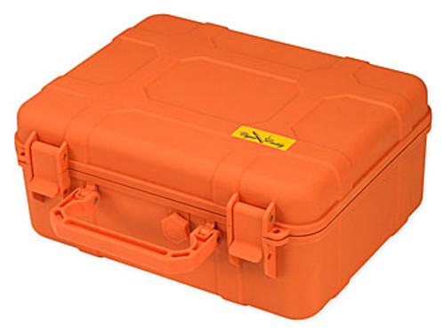 Cigar Caddy 40 Stick Blaze Orange Travel Humidor - 40 Cigars