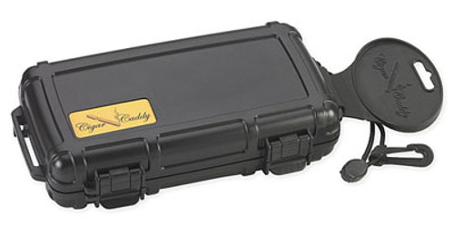 Cigar Caddy 3400 Matte Black Travel Humidor - 5 Cigars