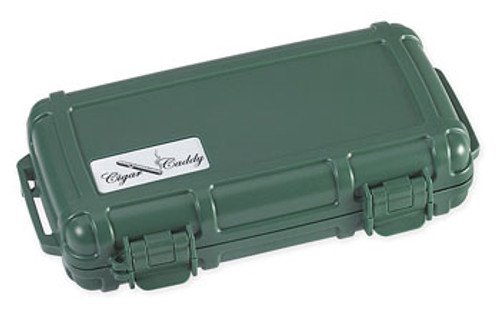 Cigar Caddy 3400 Country Club Green Travel Humidor - 5 Cigars